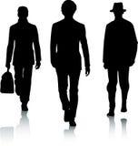 Hombres de la manera de la silueta Fotografía de archivo libre de regalías