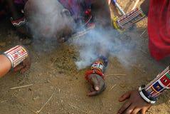 Hombres de la tribu del Masai Fotografía de archivo
