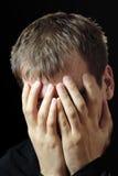Hombres de la tristeza Foto de archivo libre de regalías