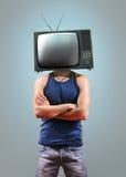 Hombres de la TV en gris Foto de archivo libre de regalías