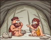 Hombres de las cavernas de la historieta Imagen de archivo libre de regalías