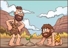 Hombres de las cavernas de la historieta