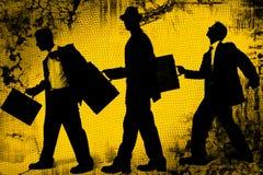 Hombres de negocios abstractos stock de ilustración