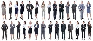 Hombres de negocios acertados aislados en el fondo blanco foto de archivo