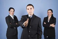 Hombres de negocios acertados de las personas Foto de archivo