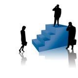 Hombres de negocios acertados en las escaleras Stock de ilustración