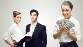 Hombres de negocios acertados jovenes foto de archivo libre de regalías