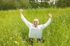 Hombres de negocios adultos felices Fotografía de archivo libre de regalías