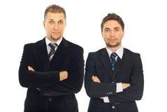Hombres de negocios adultos jovenes y mediados de Imagen de archivo