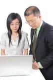 Hombres de negocios chinos jovenes Imagen de archivo libre de regalías