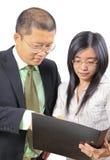 Hombres de negocios chinos jovenes Imágenes de archivo libres de regalías