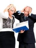 Hombres de negocios chocados Fotografía de archivo