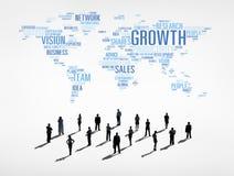 Hombres de negocios con concepto del negocio global ilustración del vector