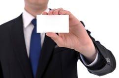 Hombres de negocios con los bolsos grandes de una tarjeta Imágenes de archivo libres de regalías