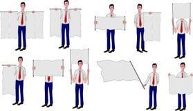 Hombres de negocios con los indicadores usados para los mensajes Foto de archivo