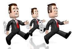 e6afe1ec3ef3 hombres de negocios 3D como juguetes de la conclusión stock de ilustración