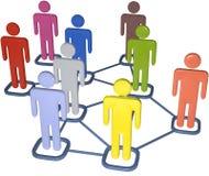 Hombres de negocios de 3D de la red social de los media Foto de archivo libre de regalías