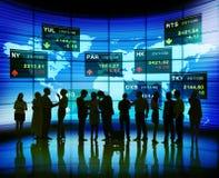 Hombres de negocios de acción de los conceptos de la bolsa Imagen de archivo