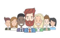Hombres de negocios de Boss With Group Of de los hombres de negocios Imagen de archivo libre de regalías