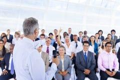 Hombres de negocios de Deversity Team Seminar Concept corporativo Fotos de archivo libres de regalías