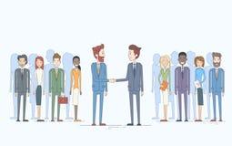 Hombres de negocios de Handshake Businesspeople Group Team Hand Shake Management Concept del hombre de negocios stock de ilustración
