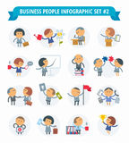 Hombres de negocios de Infographic #2 determinado Imágenes de archivo libres de regalías