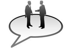 Hombres de negocios de la charla de la comunicación de la burbuja del discurso stock de ilustración