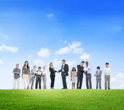 Hombres de negocios de la colaboración del empleo Team Concept de los colegas Fotos de archivo libres de regalías