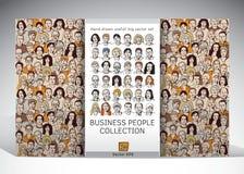 Hombres de negocios de la colección de las caras Imagen de archivo