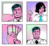 Hombres de negocios de la colección de las personas Imagen de archivo libre de regalías