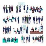 Hombres de negocios de la colección de los grupos stock de ilustración