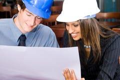 Hombres de negocios de la construcción Fotografía de archivo libre de regalías