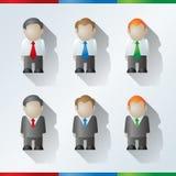 Hombres de negocios de la historieta del vector Imagen de archivo