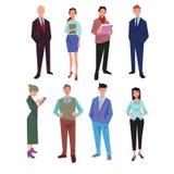 Hombres de negocios de la oficina ilustración del vector