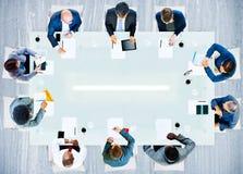 Hombres de negocios de la oficina de trabajo corporativa Team Professional Conce Fotografía de archivo libre de regalías