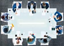 Hombres de negocios de la oficina de trabajo corporativa Team Professional Conce Fotografía de archivo