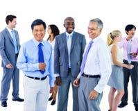 Hombres de negocios de la oficina Team Concept de la comunicación corporativa Imagen de archivo