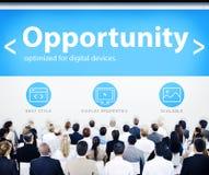 Hombres de negocios de la oportunidad de los conceptos del diseño web Imágenes de archivo libres de regalías
