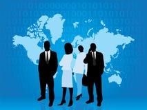 Hombres de negocios de la parte del mundo de la tecnología Imagen de archivo libre de regalías
