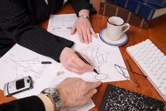 Hombres de negocios de la planificación Fotografía de archivo libre de regalías