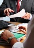 Hombres de negocios de la planificación Imagen de archivo