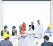 Hombres de negocios de la reunión corporativa del arquitecto Design de la presentación Imagen de archivo libre de regalías