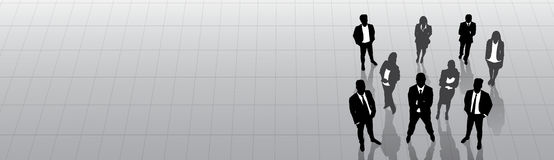 Hombres de negocios de la silueta negra Team Businesspeople Group Human Resources Imagen de archivo libre de regalías