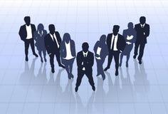 Hombres de negocios de la silueta negra Team Businesspeople Group Human Resources Imagen de archivo