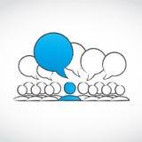 Hombres de negocios de las conversaciones stock de ilustración