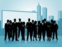 Hombres de negocios de las demostraciones de la oficina y empresaria de los empresarios Fotografía de archivo libre de regalías
