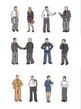 Hombres de negocios de las ilustraciones Imagenes de archivo