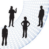 Hombres de negocios de las siluetas ilustración del vector