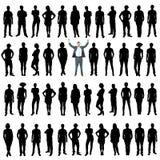 Hombres de negocios de las siluetas, concepto único ilustración del vector