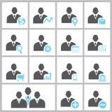 Hombres de negocios de los iconos Imagen de archivo